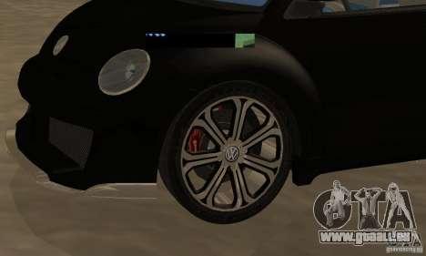 Volkswagen Bettle Tuning pour GTA San Andreas vue arrière