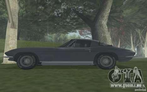 Chevrolet Corvette 427 pour GTA San Andreas vue de droite