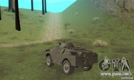 Version hiver BRDM-2 pour GTA San Andreas vue de droite