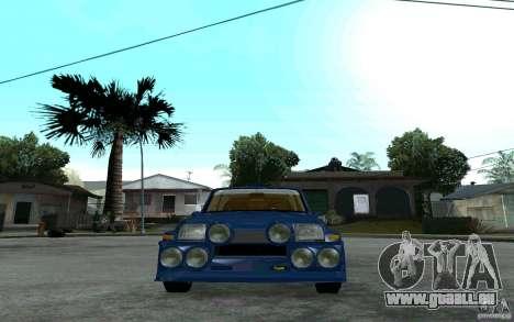 Renault 5 Maxi Turbo für GTA San Andreas rechten Ansicht