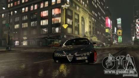 Alfa Romeo Brera Italia Independent 2009 v1.1 pour GTA 4 Vue arrière