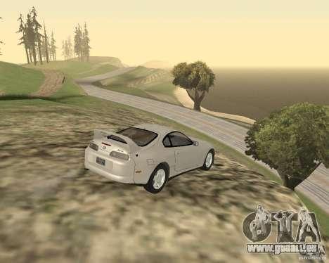 Toyota Supra 3.0 24V pour GTA San Andreas sur la vue arrière gauche