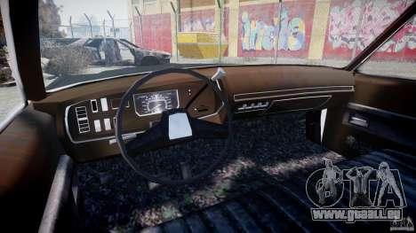 Dodge Monaco 1974 (bluesmobile) für GTA 4 Rückansicht