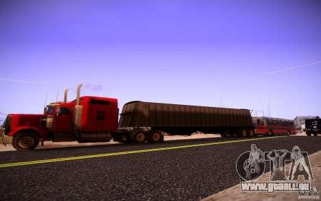 Kenworth W 900L pour GTA San Andreas laissé vue