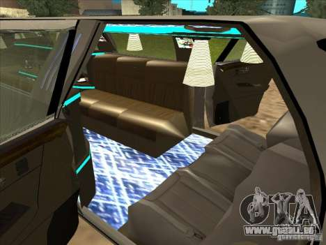 Cadillac DTS 2008 Limousine pour GTA San Andreas sur la vue arrière gauche