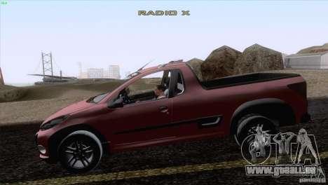 Peugeot Hoggar Escapade 2010 pour GTA San Andreas laissé vue
