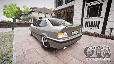 BMW E36 328i v2.0 für GTA 4 hinten links Ansicht