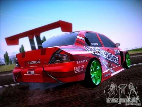 Mitsubishi Lancer Evolution 9 Hypermax für GTA San Andreas Rückansicht