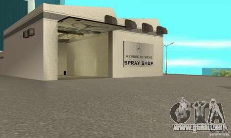 Mercedes Showroom v.1.0 (BFMTV) pour GTA San Andreas troisième écran