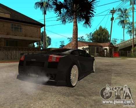 Lamborghini Gallardo HAMANN Tuning pour GTA San Andreas sur la vue arrière gauche