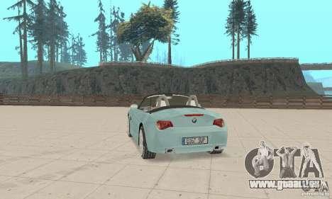 BMW Z4 Roadster 2006 pour GTA San Andreas laissé vue