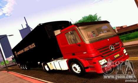 Lamborghini Cargo Truck für GTA San Andreas zurück linke Ansicht