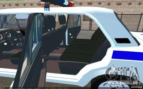 VAZ 2105 Jigouli PPP pour GTA San Andreas sur la vue arrière gauche