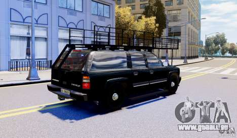 Chevrolet Suburban 2003 Norwegian SWAT Edition für GTA 4 linke Ansicht