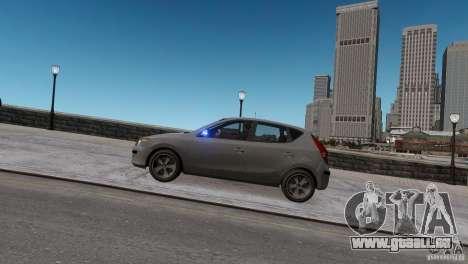 Hyundai i30 Unmarked für GTA 4 hinten links Ansicht