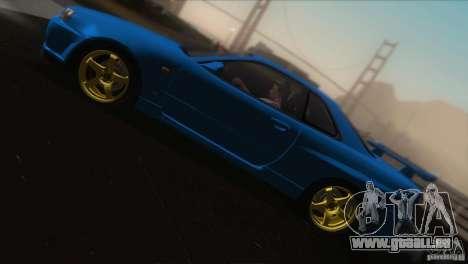 Nissan Skyline GTR-34 pour GTA San Andreas vue de dessous