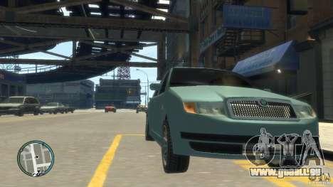 Skoda Fabia pour GTA 4 Vue arrière de la gauche