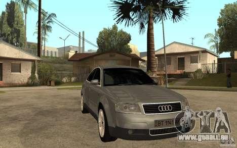 Audi A6 3.0i 1999 pour GTA San Andreas vue arrière