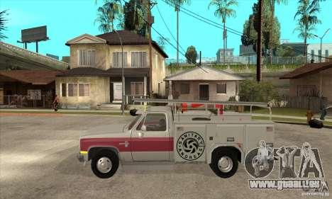 Chevrolet Silverado - utility pour GTA San Andreas laissé vue
