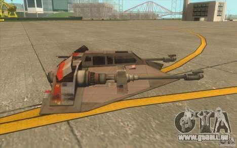 T-47 Snowspeeder pour GTA San Andreas vue de dessous