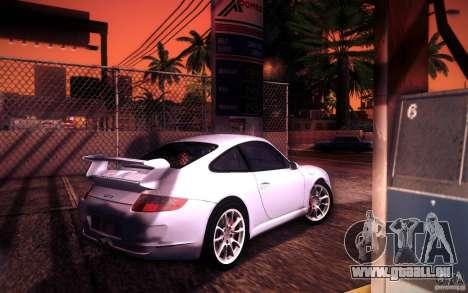 Porsche 911 GT3 (997) 2007 für GTA San Andreas obere Ansicht