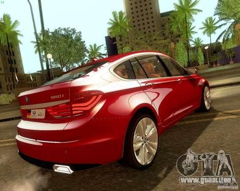 BMW 550i GranTurismo 2009 V1.0 für GTA San Andreas obere Ansicht