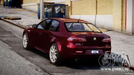 Alfa Romeo 159 Li pour GTA 4 est une vue de l'intérieur