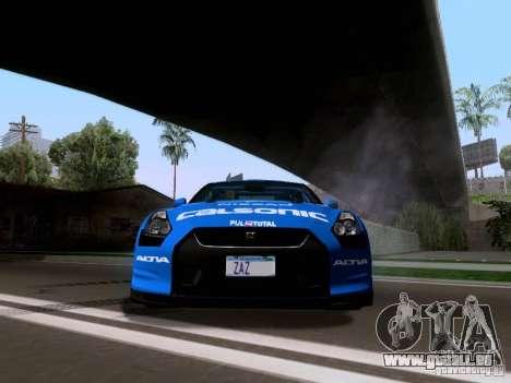 Nissan GTR 2010 Spec-V pour GTA San Andreas vue arrière
