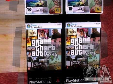 Disques avec la GTA en magasin zéro pour GTA San Andreas cinquième écran