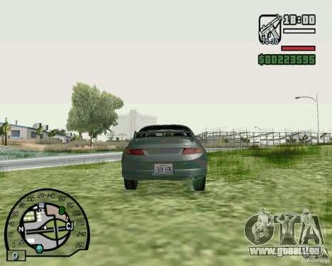 Mitsubishi FTO Stock pour GTA San Andreas sur la vue arrière gauche