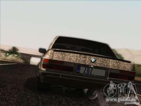 BMW E28 525E RatStyle pour GTA San Andreas vue intérieure