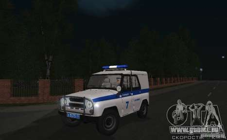 UAZ-31512 Police pour GTA San Andreas