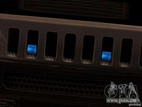 Hummer H3 für GTA San Andreas zurück linke Ansicht