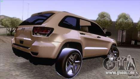 Jeep Grand Cherokee 2012 für GTA San Andreas linke Ansicht