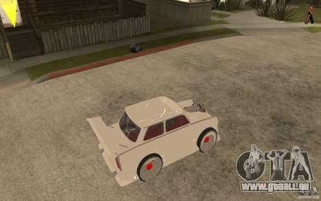 Trabant 601 Hardcore Tuning pour GTA San Andreas vue de droite
