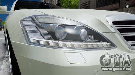 Mercedes-Benz S65 AMG LONG 2010 pour GTA 4 est un côté