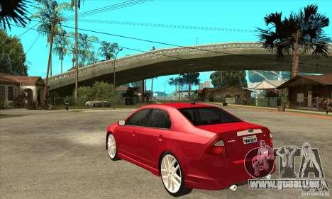 Ford Fusion Hybrid pour GTA San Andreas sur la vue arrière gauche