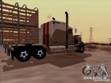 Kenworth W 900 RoadTrain pour GTA San Andreas vue de droite