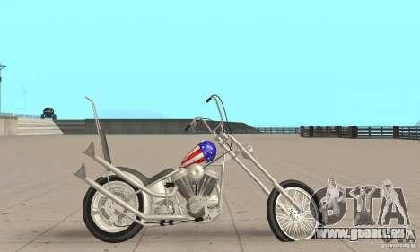 Captain America Chopper für GTA San Andreas zurück linke Ansicht