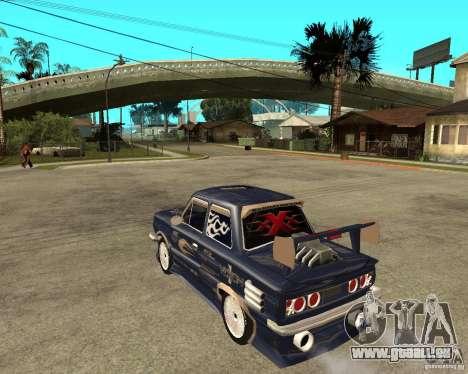 ZAZ-968 m STREET tune pour GTA San Andreas laissé vue