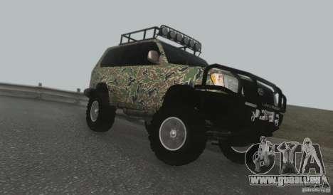 Toyota Land Cruiser 100 Off Road pour GTA San Andreas laissé vue