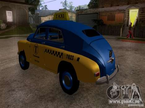 GAZ M20 Pobeda Taxi für GTA San Andreas linke Ansicht