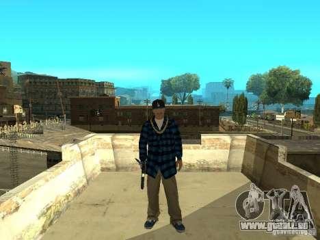 Varrios Los Aztecas Gang Skins pour GTA San Andreas troisième écran