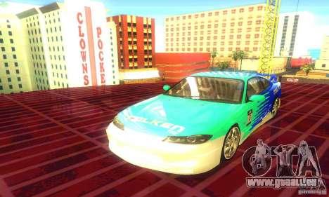 Nissan Silvia S15 8998 Edition Tunable pour GTA San Andreas sur la vue arrière gauche