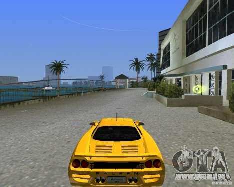 Saleen S7 pour GTA Vice City sur la vue arrière gauche