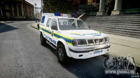 Nissan Frontier Essex Police Unit pour GTA 4 Vue arrière