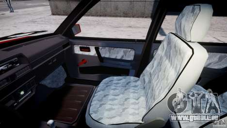 Vaz-21093i pour GTA 4 est une vue de l'intérieur
