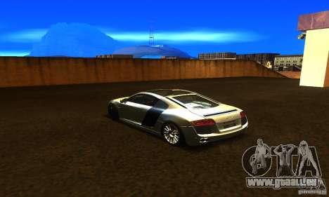 Audi R8 V12 TDI pour GTA San Andreas laissé vue