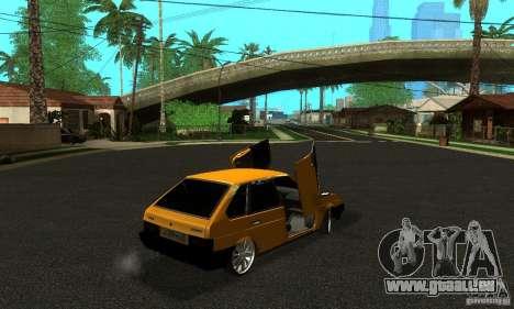 VAZ 2109 léger Tuning pour GTA San Andreas laissé vue