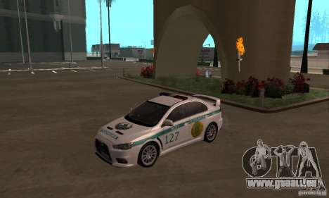 Mitsubishi Lancer Evolution X Polizei von Kasach für GTA San Andreas